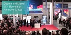 Obama and Merkel visit Siemens at Hannover Messe